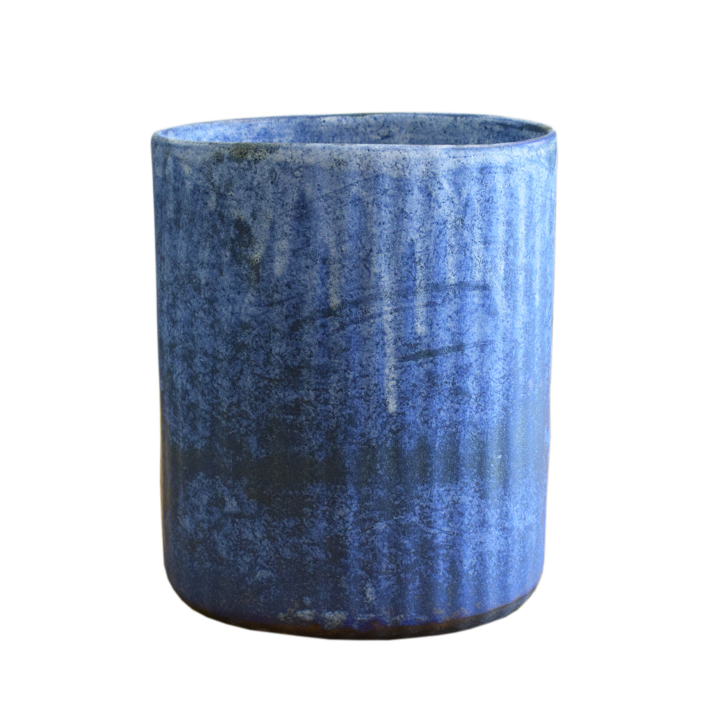 Wastebasket Blue - TheMississippiGiftCompany.com