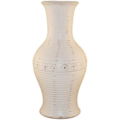 "14.5"" White Vase - TheMississippiGiftCompany.com"
