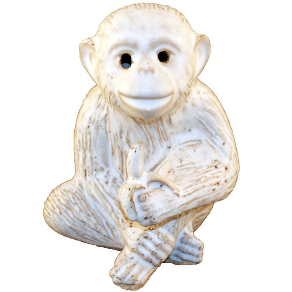 Monkey With Banana White - TheMississippiGiftCompany.com