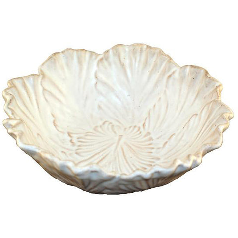 Large Cabbage Bowl White - TheMississippiGiftCompany.com