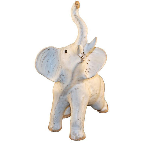 Large Elephant White - TheMississippiGiftCompany.com