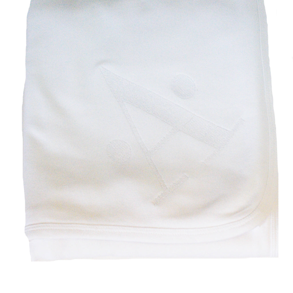 Initial Receiving Blanket - White