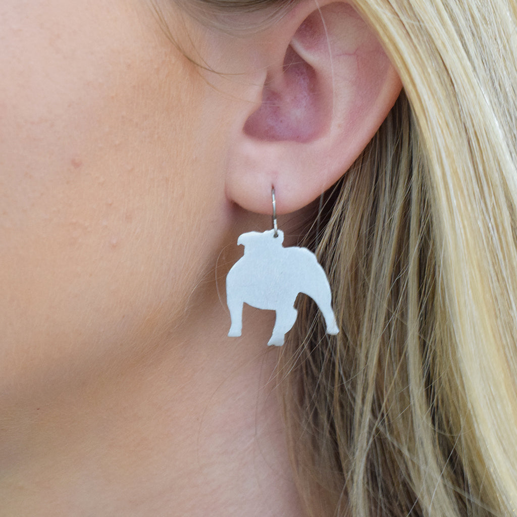Willcoxon Wearables Earrings-Bulldog