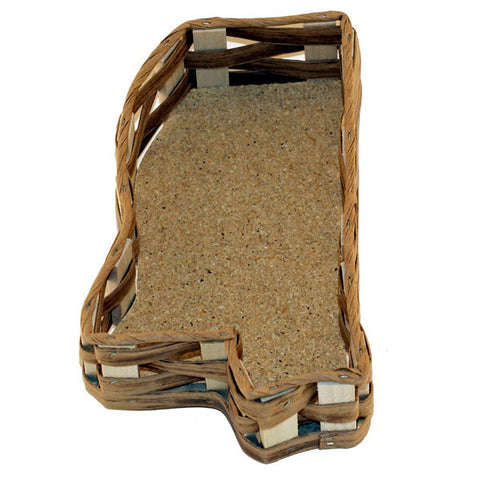 Unfilled Mississippi Shaped Basket X-Small - TheMississippiGiftCompany.com