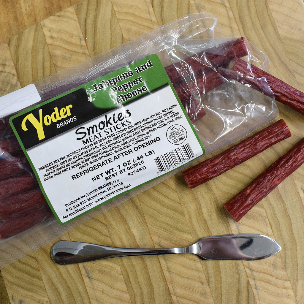 Jalapeno and Cheddar Smokie Meat Sticks Pack - TheMississippiGiftCompany.com