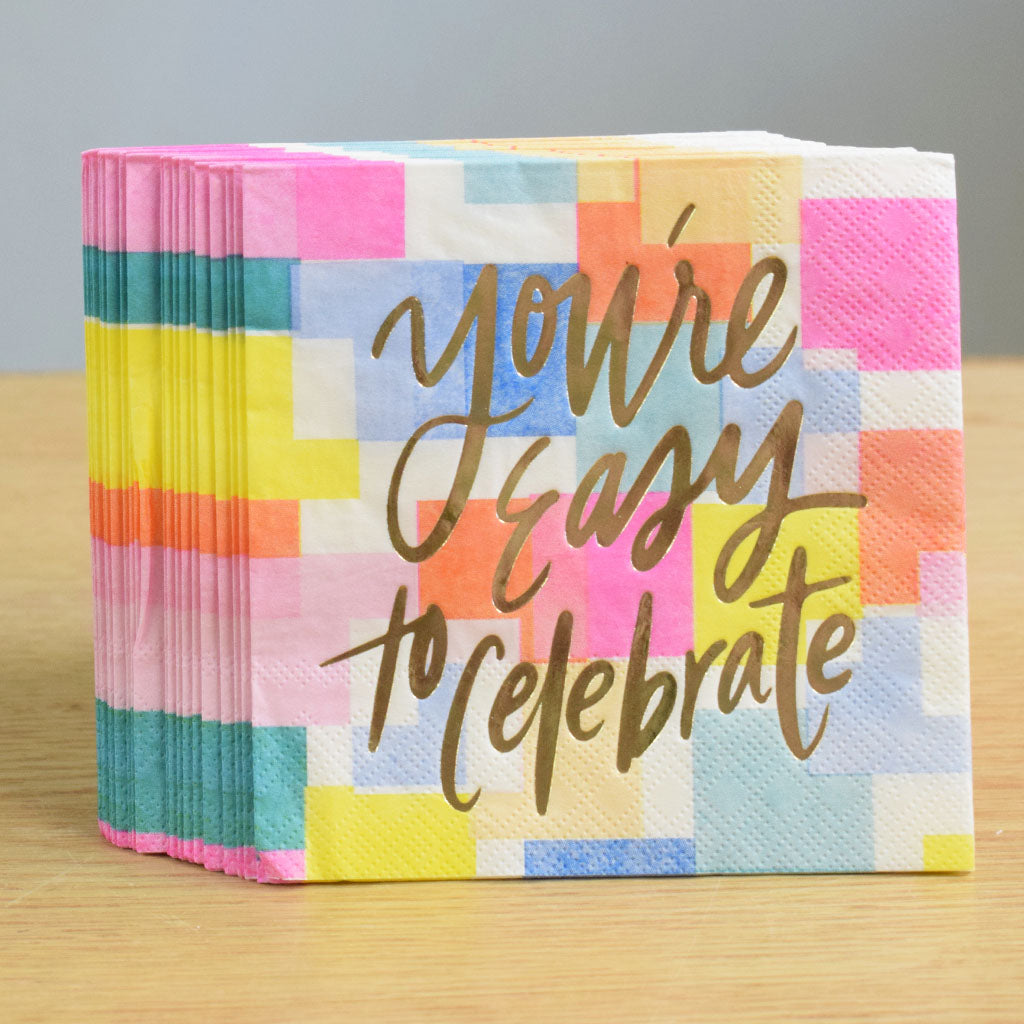Easy To Celebrate Beverage Napkins Ms Made Foods Gifts And Home Decor