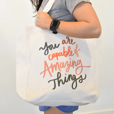 You Are Capable Tote Bag - TheMississippiGiftCompany.com
