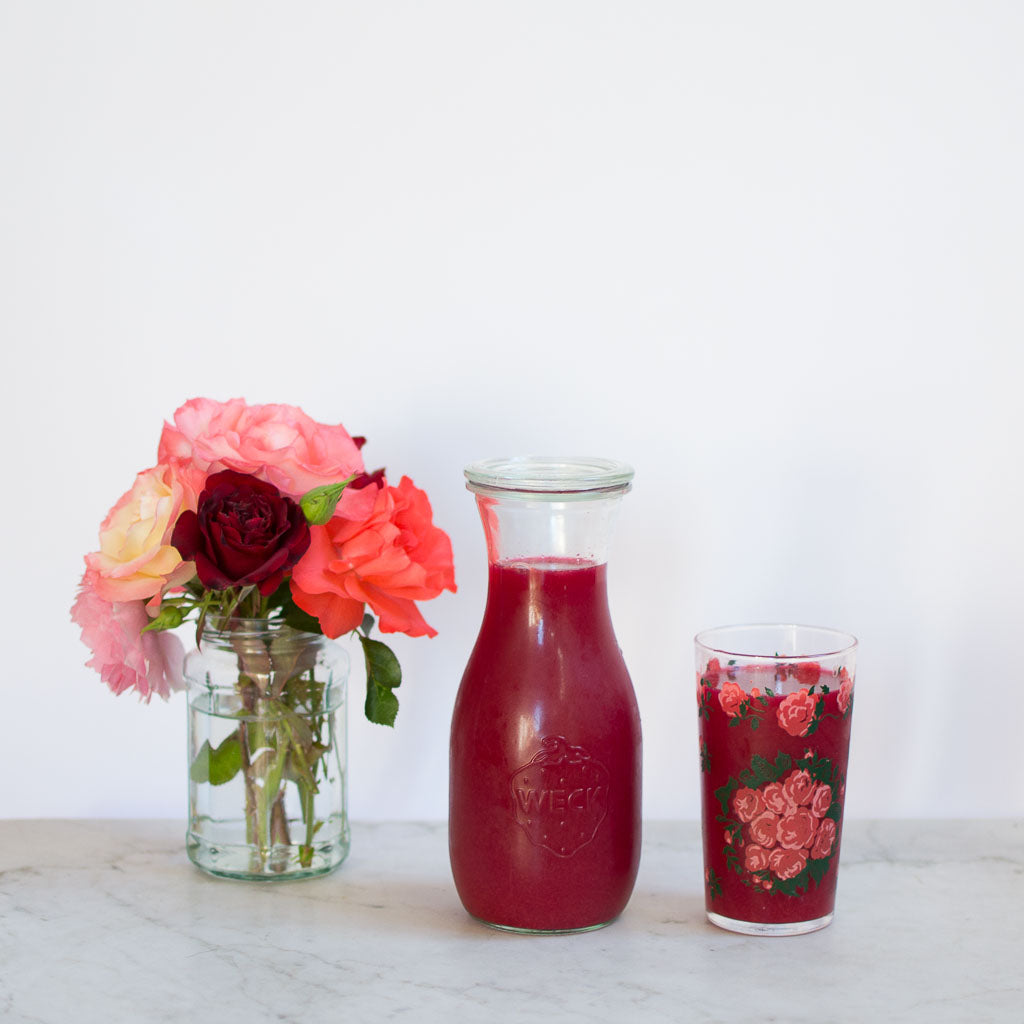 diy homemade rosewater drink