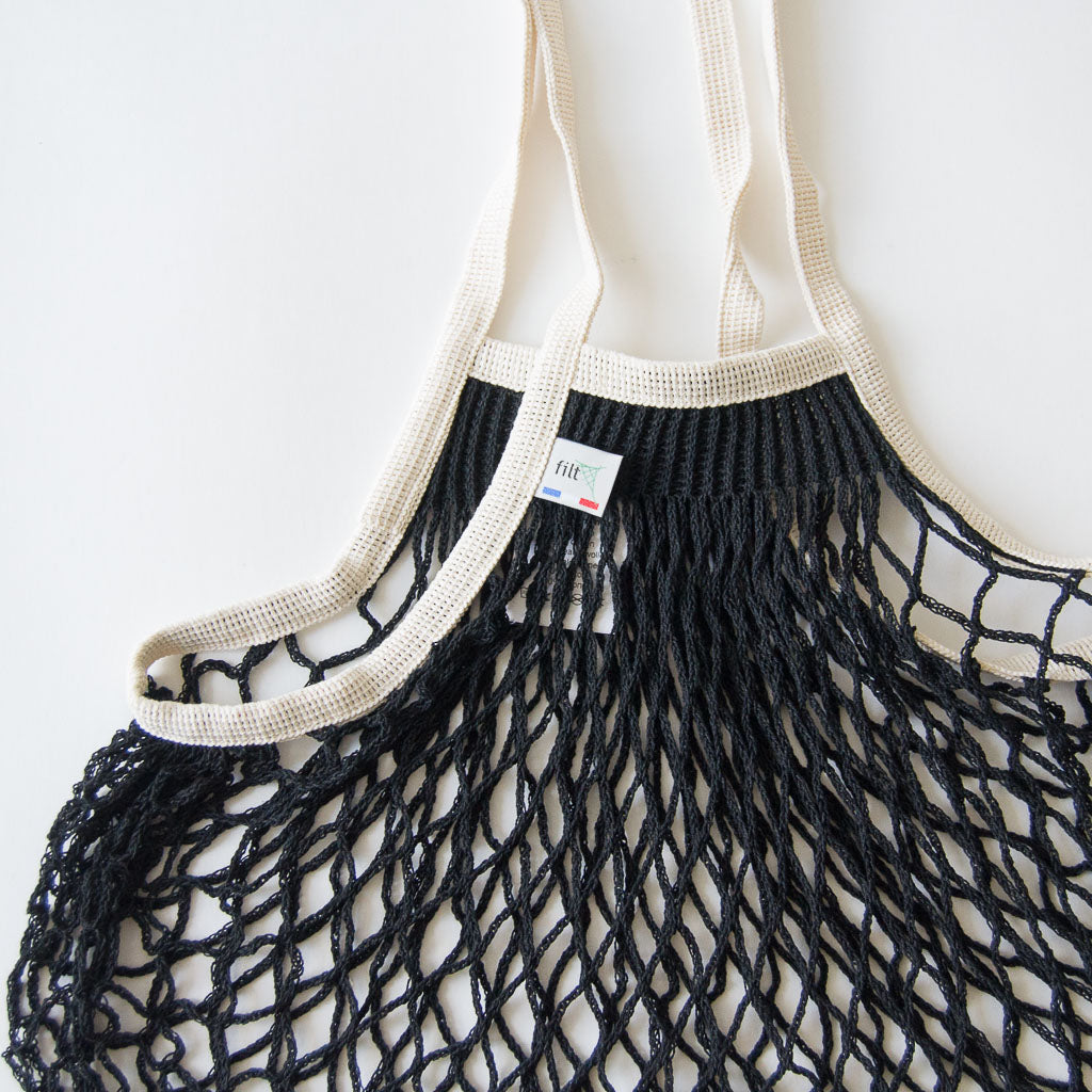 Black & Ivory French Net Bag