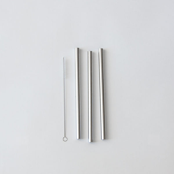 Stainless Steel Boba Straws, Set of 3