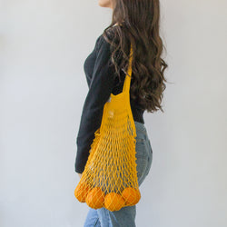 Mustard French Net Bag