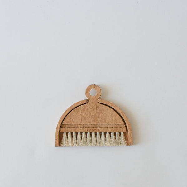 Wood Hand Broom and Dustpan