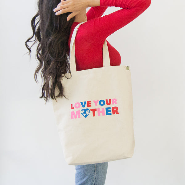 Love Your Mother Cotton Tote