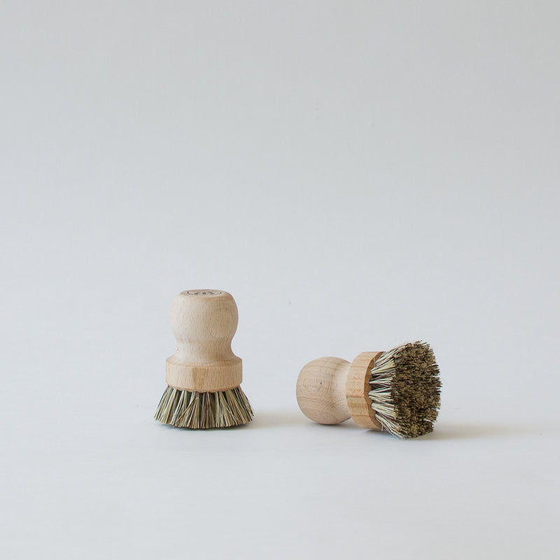 Wood Pot Brush, Set of 2