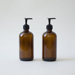 Glass Soap Dispensers, Set of 2