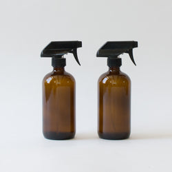 Glass Spray Bottles, Set of 2