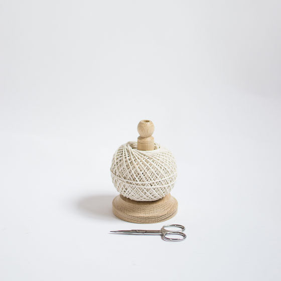 wood string twine holder scissors