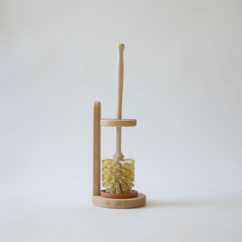Wood Toilet Brush and Stand