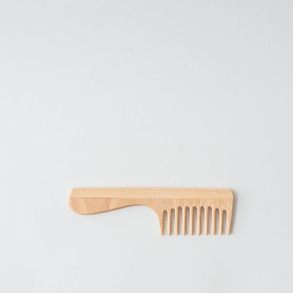 Wood Wide Tooth Comb