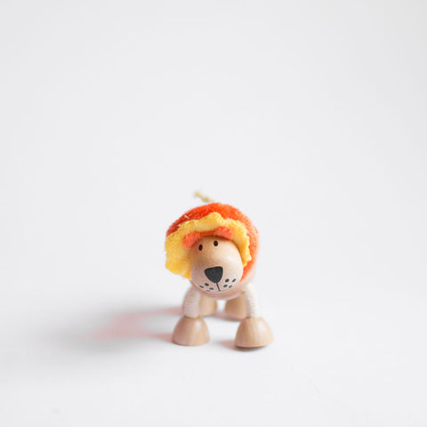 wood lion zero waste toy
