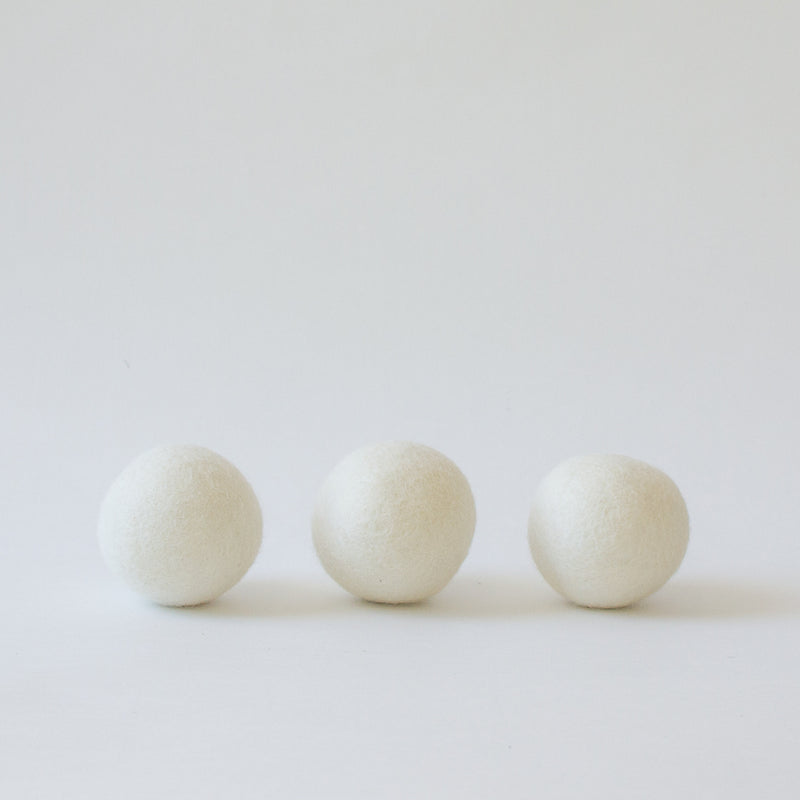 Wool Dryer Balls, Set of 3