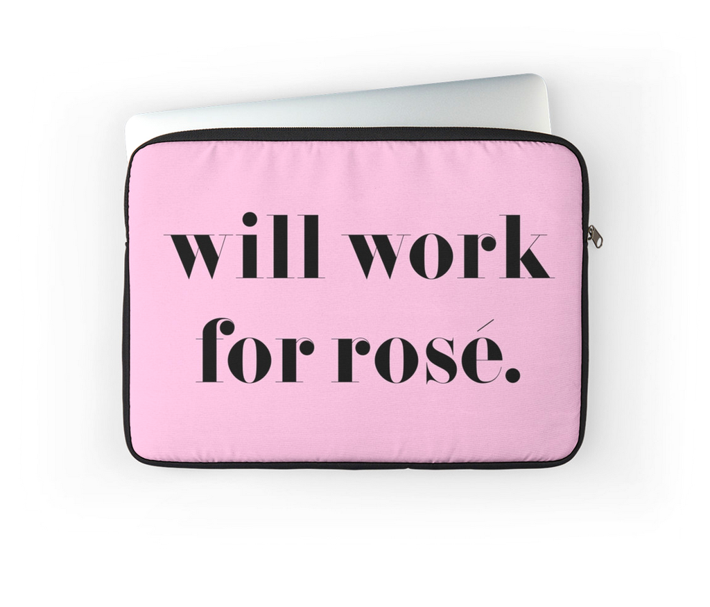 ROSÉ ALL DAY LAPTOP CASE