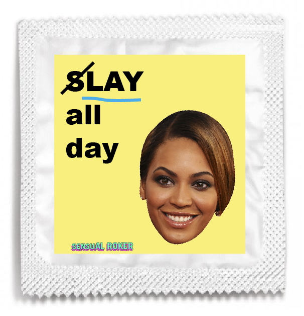 "BEYONCE ""SLAY ALL DAY"" CONDOM PACK"