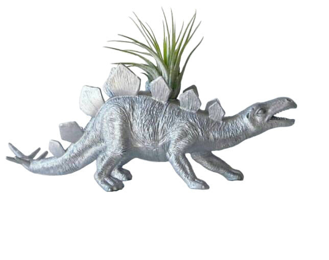 METALLIC DINOSAUR PLANTER + AIR PLANT