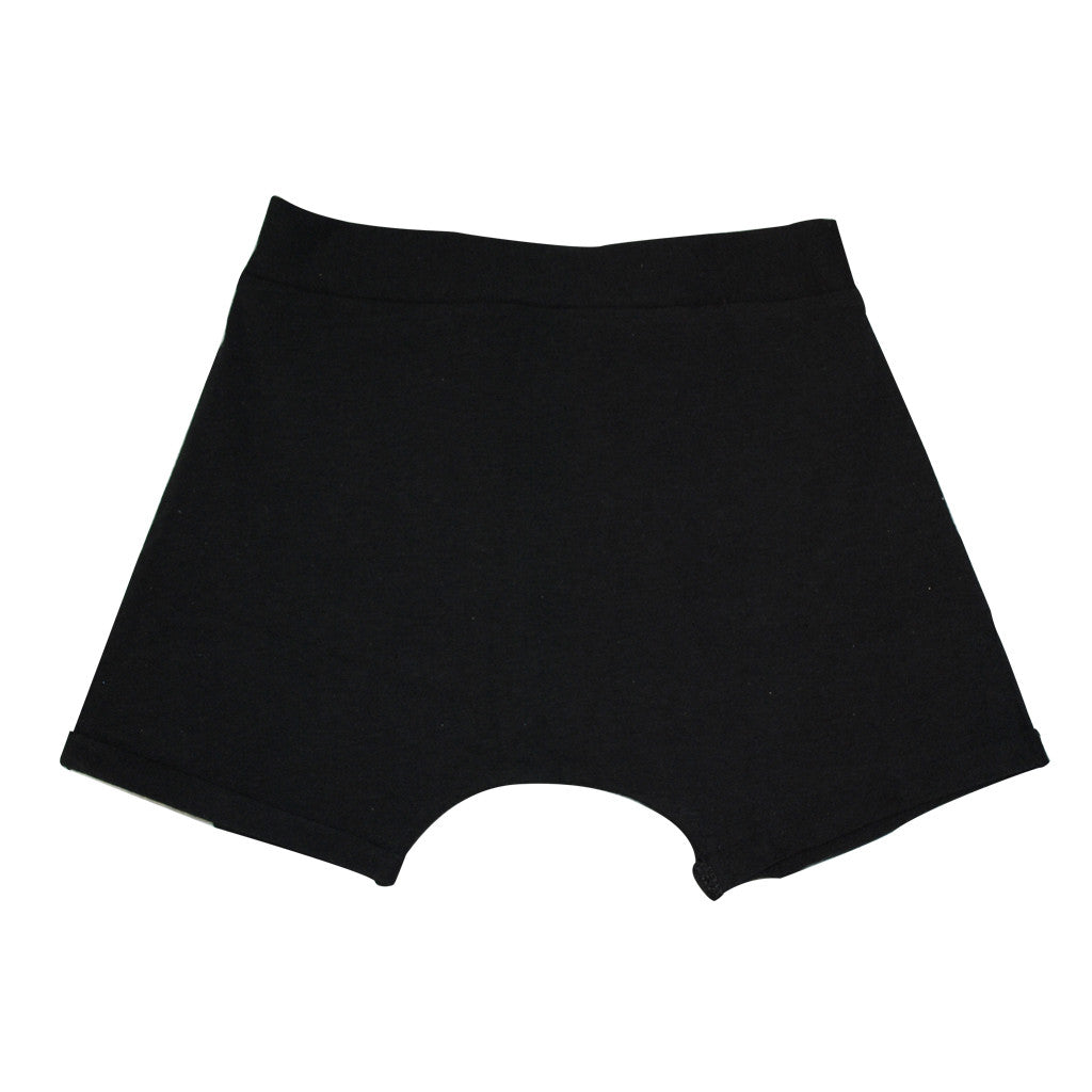 Shorts with Fold Over Cuff (Black)