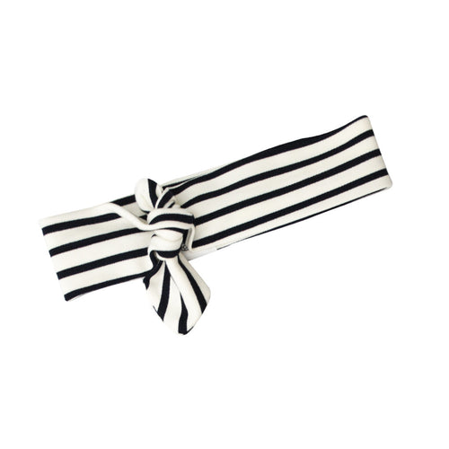Headband with Knot (Navy/Creme Stripe Nautical)