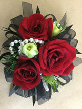 Classy Burlesque Style Corsage or Rock-a-billy Red Corsage
