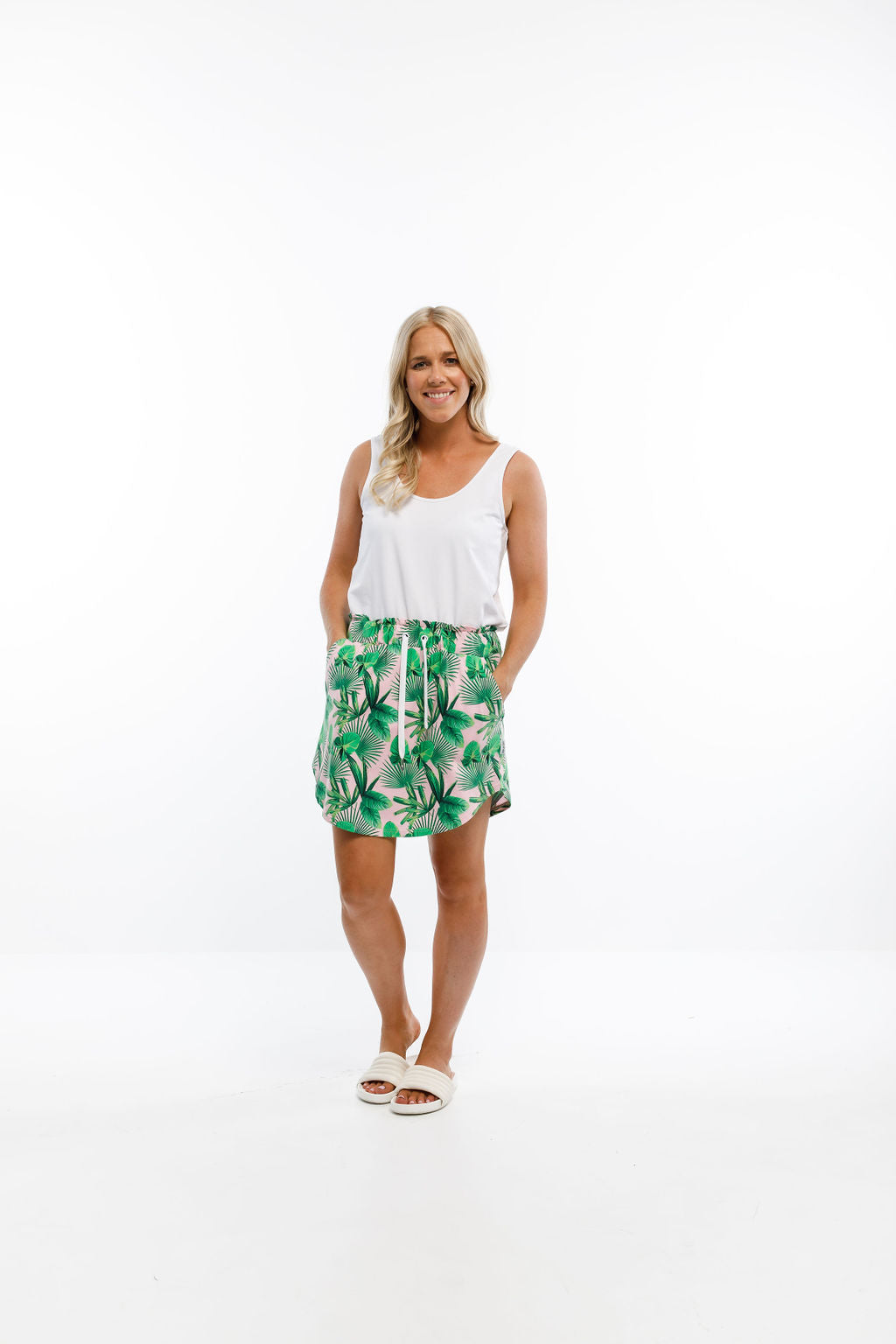 MINI SKIRT - Tropical Palm