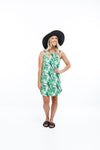 BEACH SLIP DRESS - Tropical Palm Print