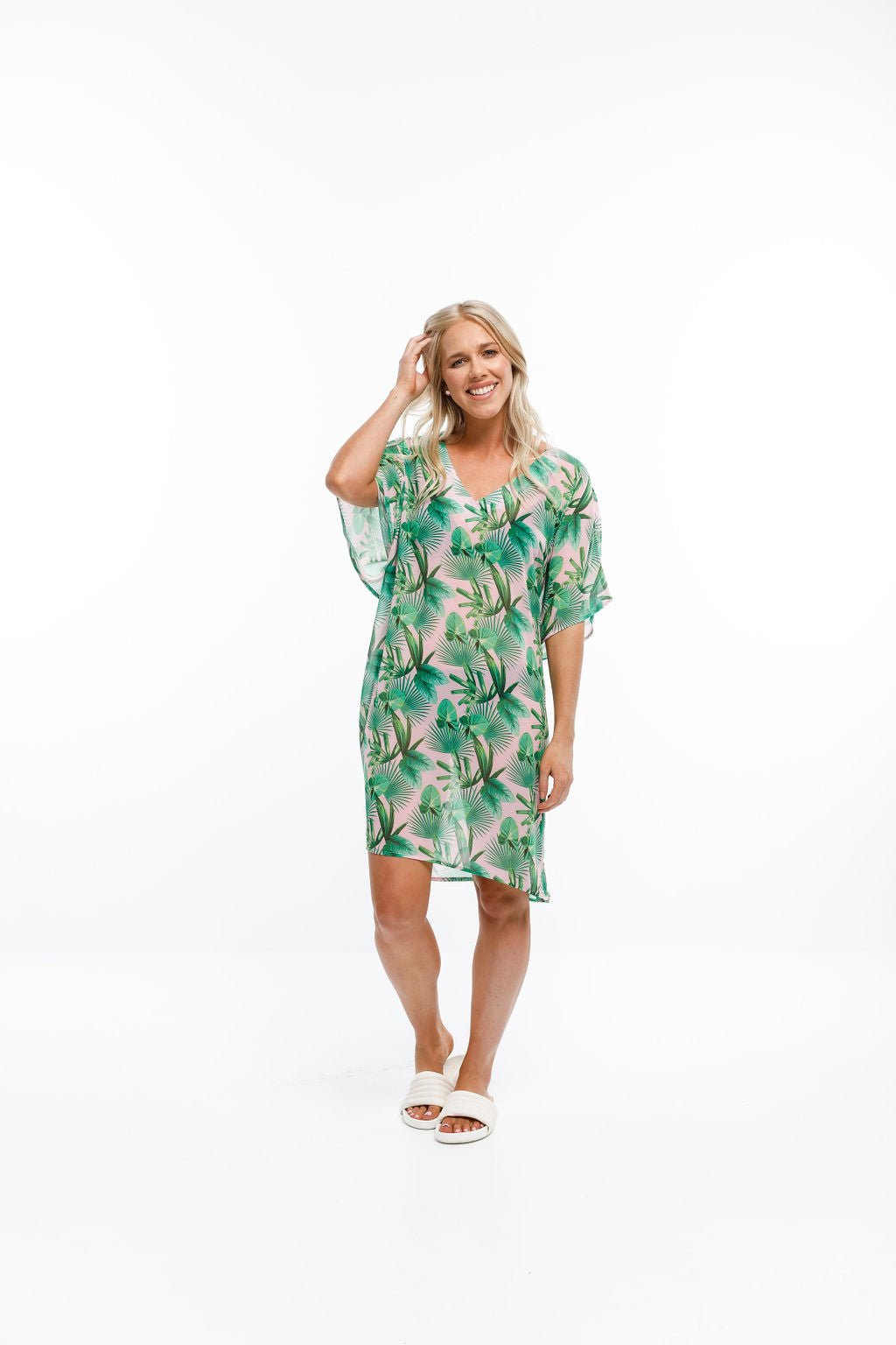 KAITERI KAFTAN - Tropical Palm Print
