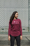 *SALE* LONG SLEEVE TEE - Plum with Stack Logo