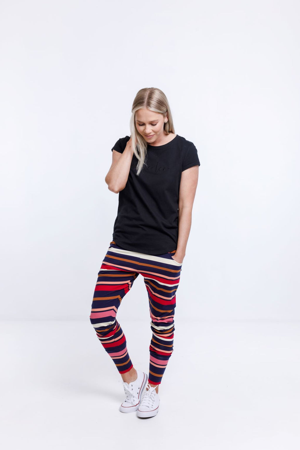 APARTMENT PANTS - Autumn Stripe Print