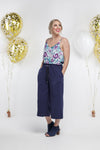 *SALE* Party - 7/8th RE-LUXE PANTS - Navy