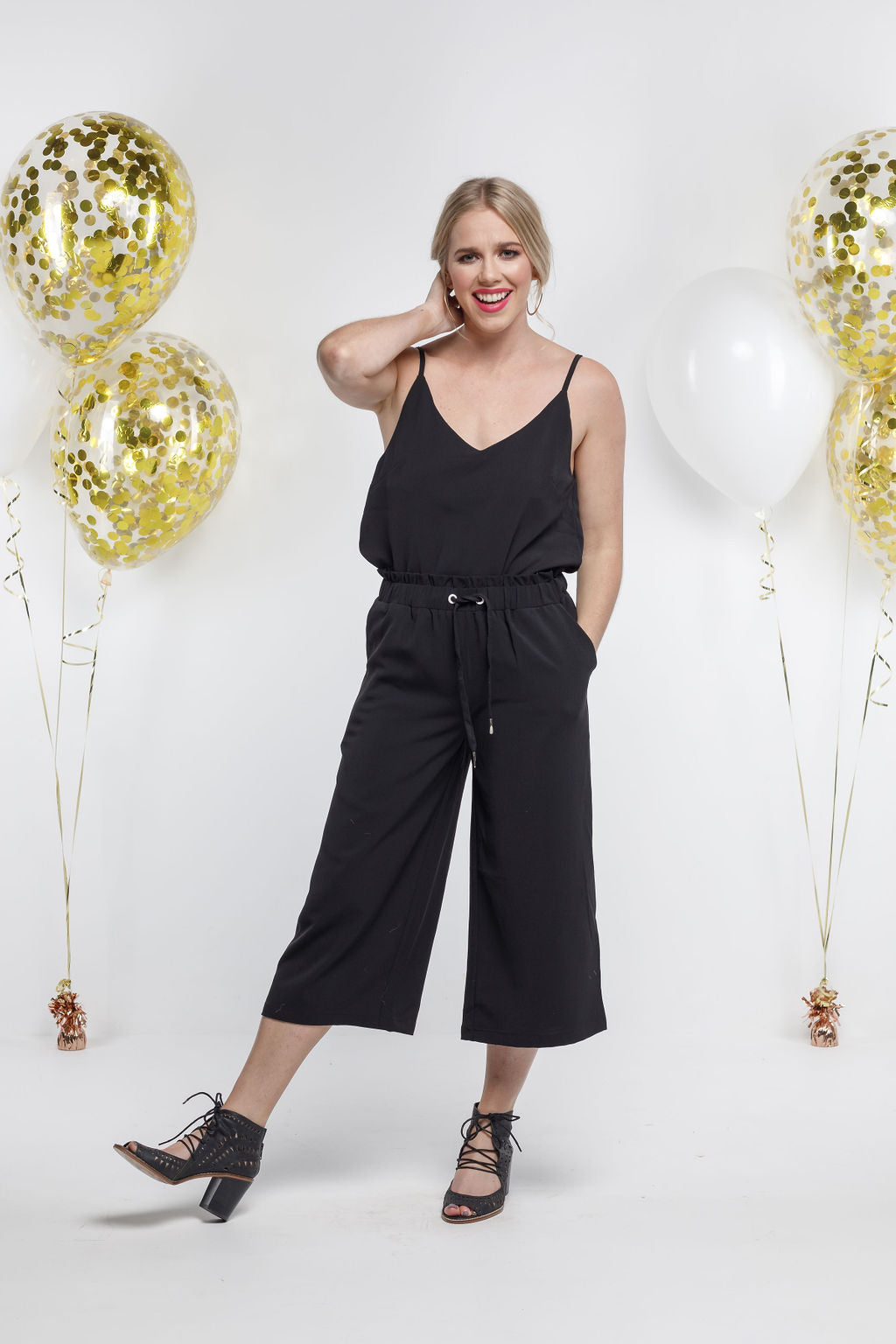 *SALE* Party - 7/8 RE-LUXE PANTS - Black