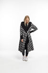 HOODED REVERSIBLE COAT - Black/Lightning
