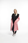 HOODED REVERSIBLE COAT - Black/Rose Pink