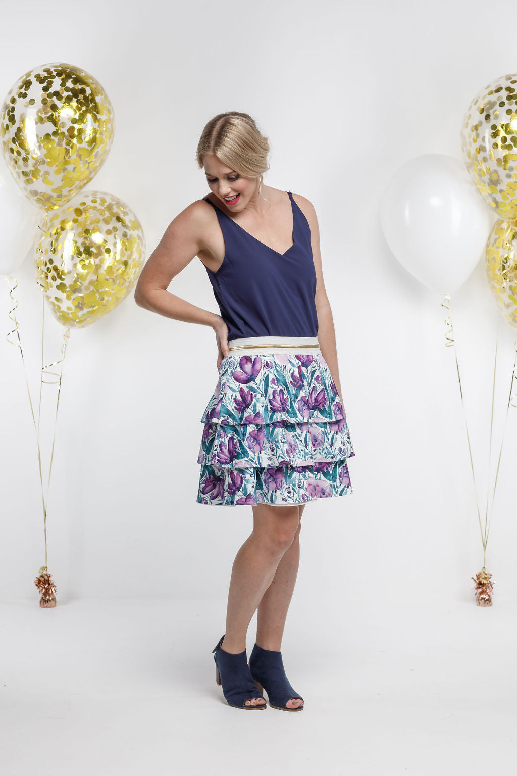 *SALE* Party - RARA SKIRT - Violet Fusion