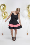 *SALE* Party - RARA SKIRT - Black with Neon Pink Sequins