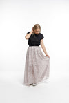 MAXI SKIRT - Triangle Print in Pale Pink