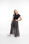 MAXI SKIRT - Triangle print in Black