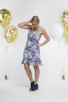 *SALE* Party - SHORTIE WRAP DRESS - Violet Fusion