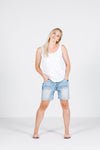 DENIM SHORTS - Snow Wash