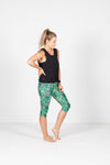3/4 LEGGINGS - Geometric Palms