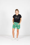 UNWINDER SHORTS - Geometric Palms