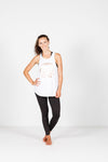 RACERBACK SINGLET - White with Logo
