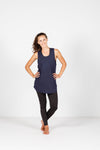 LUCKY LAST *SALE* SINGLET (MESH with panel) - Navy